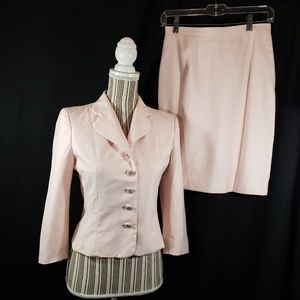 Moschino Pink Skirt Suit Size 6